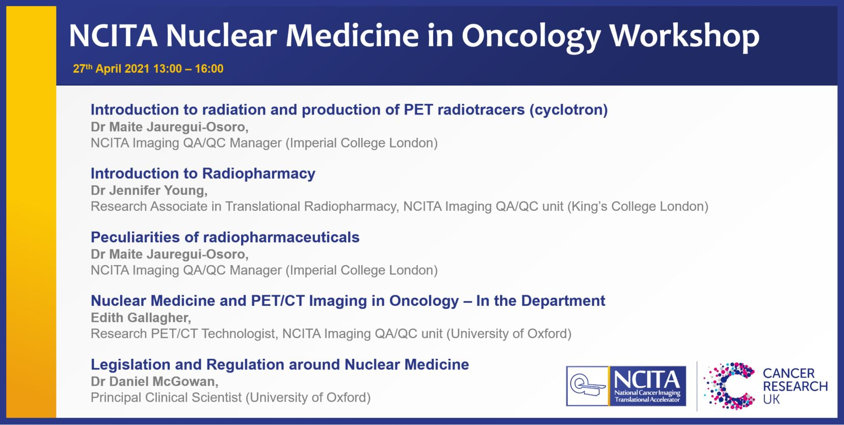 NCITA Nuclear Medicine in Oncology Training Workshop